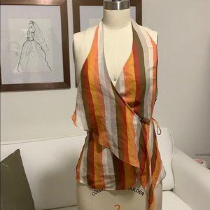 Silk BCBG wrap top